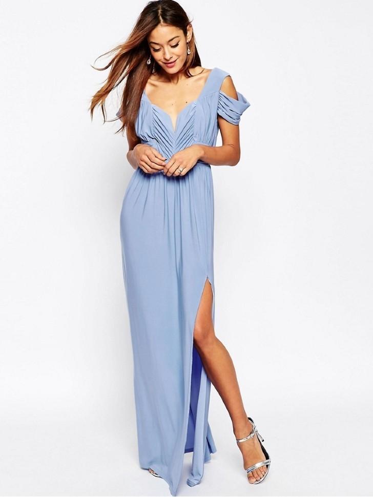bdc477ef8dc Купить греческое платье в пол с разрезом и открытой спиной 797622 ...