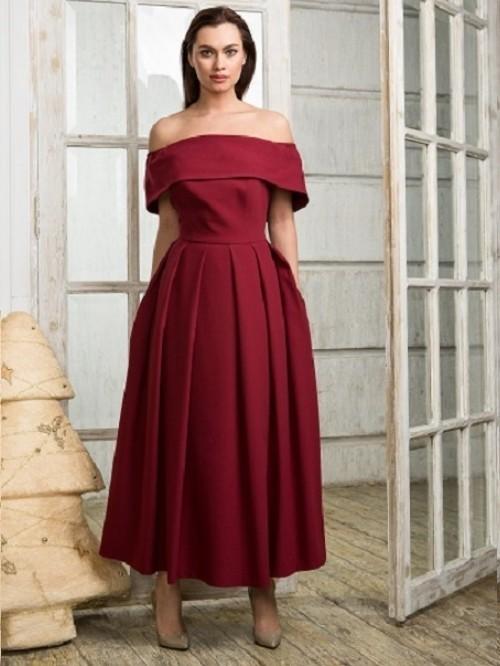 2fb8b7ef4a9 Купить платье с пышной юбкой и рукавом lucy odry 159 бордовое в ...
