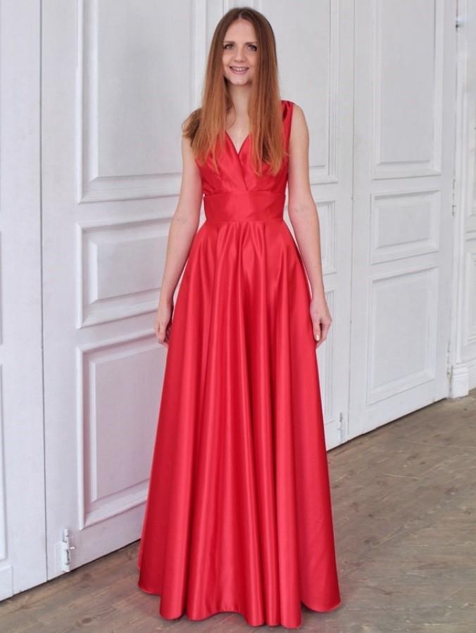 231a053bb72 Купить платье в пол с запахом lucy olivia красное в интернет ...