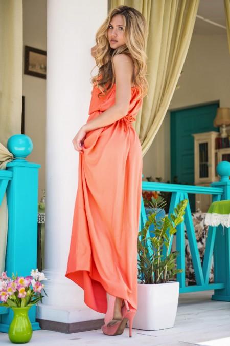80dccd528392afc Длинное платье без рукавов Sk House