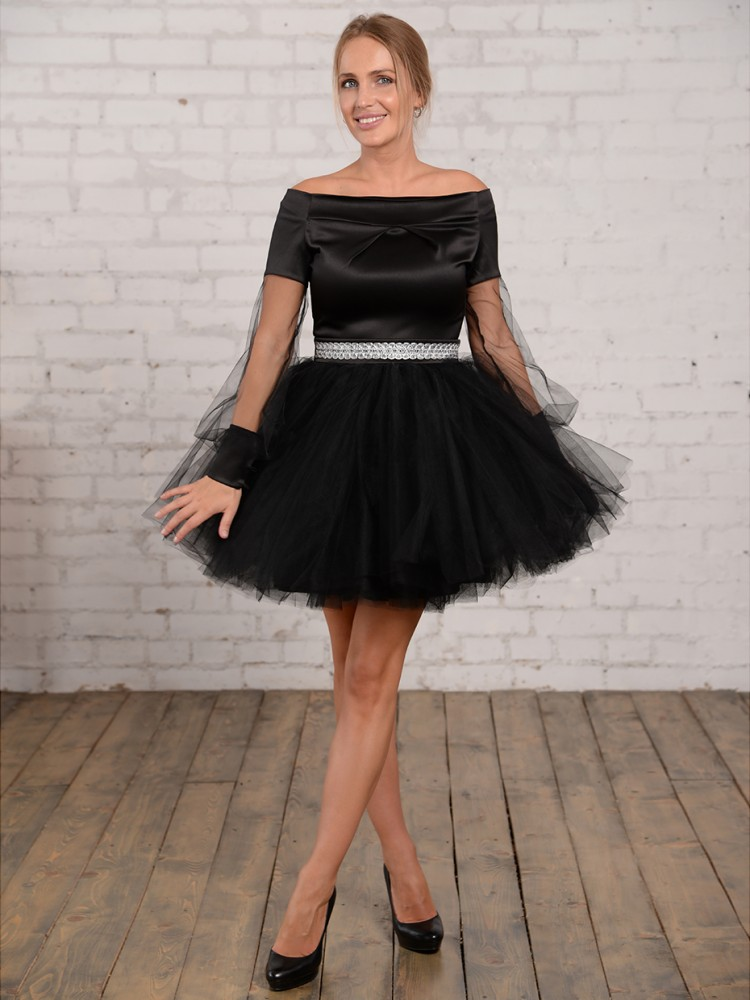 d8daebcfcb0c2af Купить коктейльное платье с пышной юбкой, кимберли чёрное в интернет ...