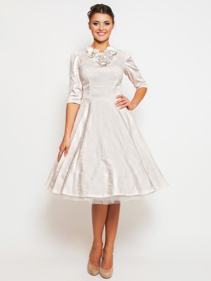 Купить платье с пышной юбкой из фатина миди lucy dora 065 пудра в ... d6f2fda4f8243