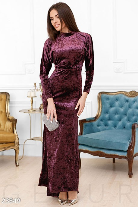 86c02bb5223 Купить бархатное платье-годе 23849 в интернет магазине mirplatev.ru ...