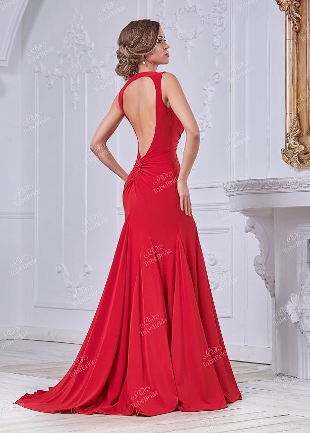 56e593dfaada601 Купить вечернее платье в пол с открытой спиной mc091b красное в ...