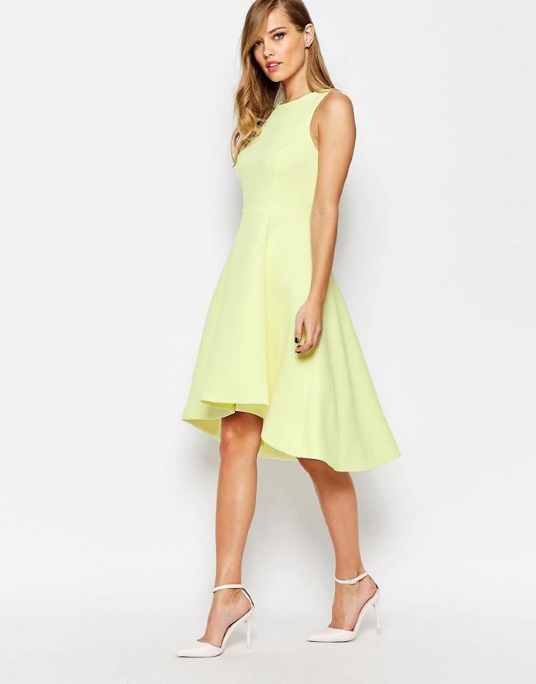 b005bcb9240 Купить платье с юбкой солнце без рукавов 867783 жёлтое в интернет ...