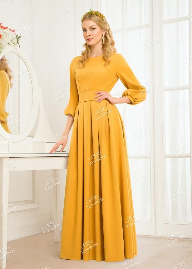 Купить платье в пол с поясом и длинным рукавом nd047b в интернет ... 4e753624fac