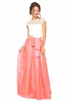 a4d691b2a7a Коралловое платье в пол — Купить платье в интернет-магазине с ...
