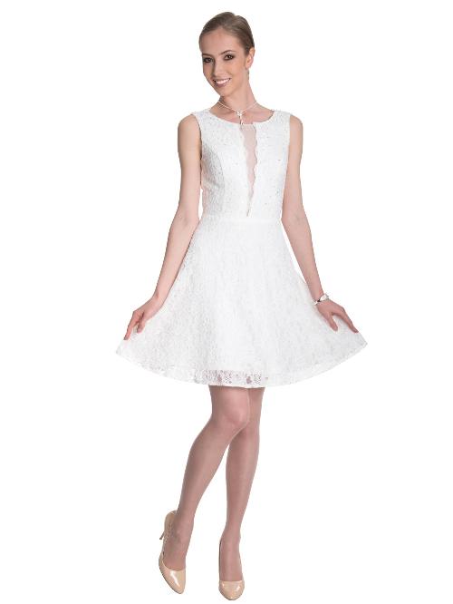 3d266632271 Купить кружевное платье с открытой спиной короткое 32-41 белое в ...