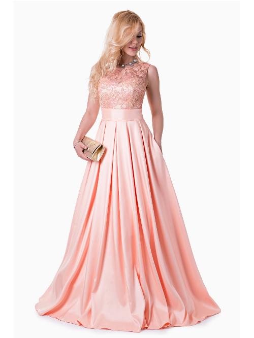2f2255b629d Платье с юбкой солнце в пол 32-48 коралловое - Платье с юбкой солнце в