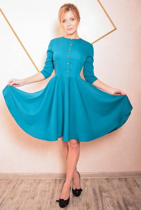 ba9f84228cd Купить бирюзовое платье в . Интернет-магазин ателье платьев недорого ...