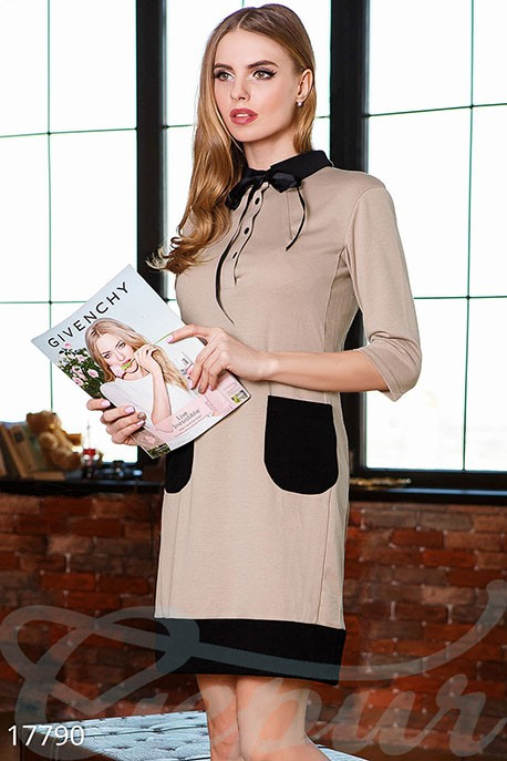 48999affa203 Купить милое двухцветное платье 17790 в интернет магазине mirplatev ...