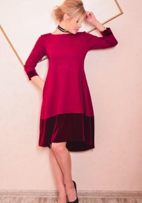 a9b2f986fa4 MirPlatev   Платье Элегия (бордовый). Размеры  2XS XS S M L XL XXL. 1.  Платье с асимметричной юбкой и кружевом JDN8 мятное