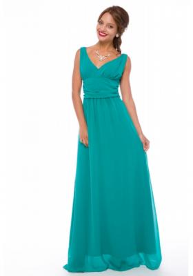 181fecd16b5c5ee Вечернее шифоновое платье с открытой спиной Leleya Эль Греко бирюзовое