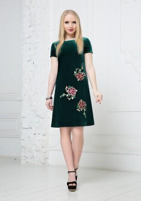 c2de8773df3 Темное зеленое платье — Купить платье в интернет-магазине с ...