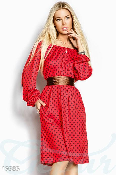 dd23f35d2ad Купить ретро платье горошек 19385 в интернет магазине mirplatev.ru ...