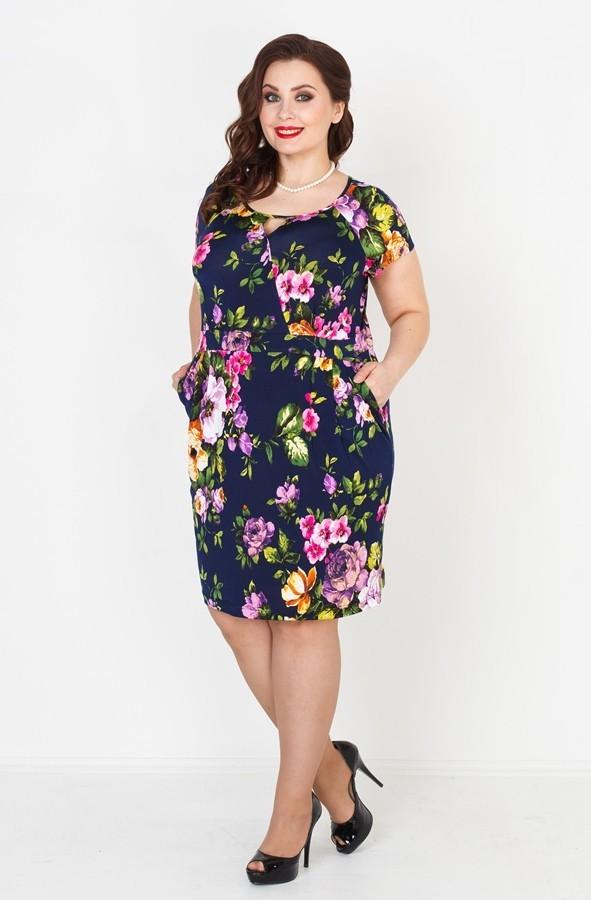 Купить Платье С Цветами Большого Размера
