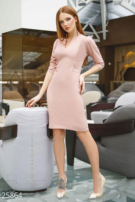 bb2e4f2d29e Купить офисное платье-миди 25864 в интернет магазине mirplatev.ru ...