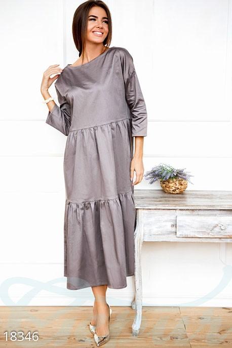 ce66553b7f3 Купить расклешенное платье оверсайз 18346 в интернет магазине ...