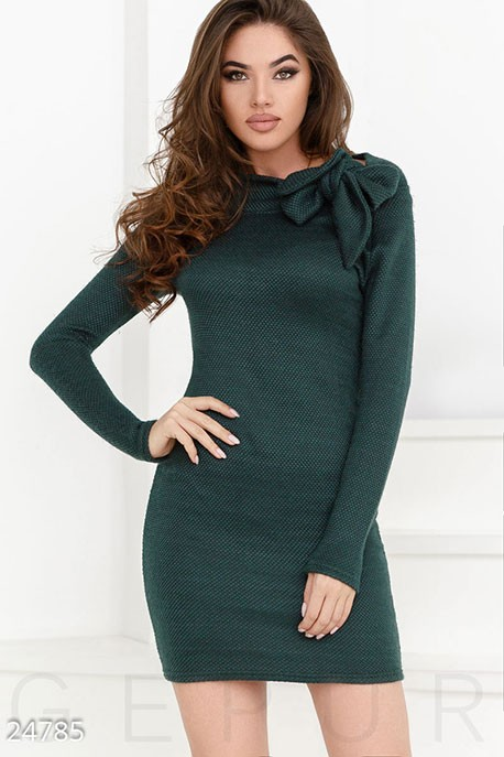 d2dfcd12e66 Купить теплое платье завязки 24785 в интернет магазине mirplatev.ru ...