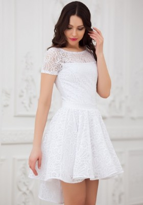 9cf0a4176e5 Купить белое короткое платье в Москве недорого - mirplatev.ru