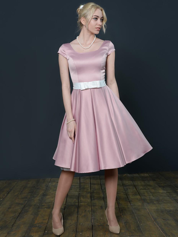 fede8141fbe8474 Купить коктейльное платье длины миди, кейт 3 пудра в интернет ...