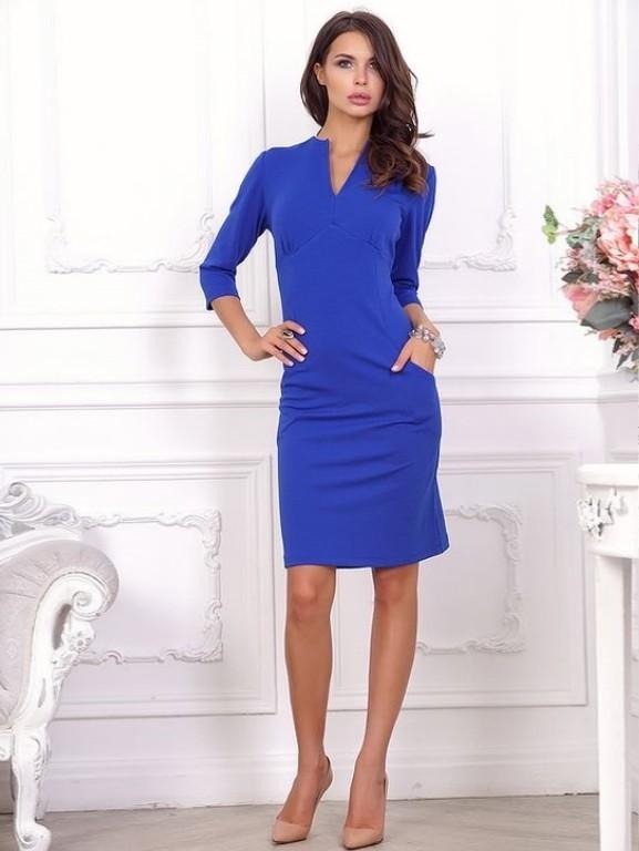 Синее Платье Футляр Купить