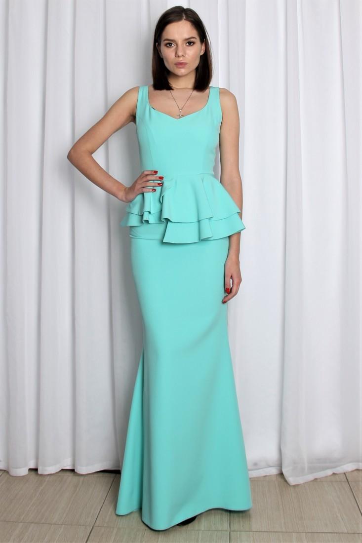 fa84af350b9 Купить платье в пол с баской