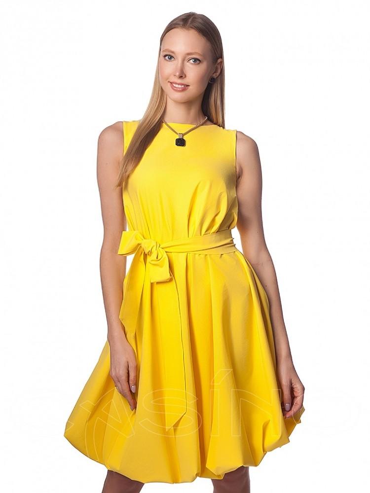 1708b6b7fa1 Купить платье cs 921 желтое с кружевом в интернет магазине mirplatev ...