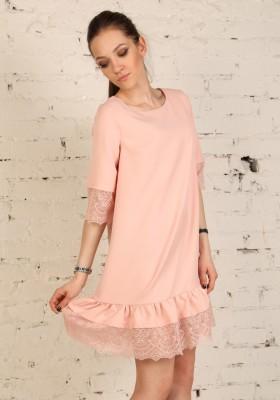 5b8c7911bb87921 Розовое платье короткое — Купить платье в интернет-магазине с ...