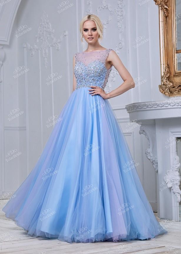 869950ba4c6 Купить пышное платье в пол без рукавов со стразами mc088b в интернет ...