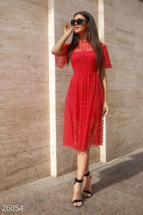 3504b541a0e1 Купить воздушное платье-сетка 26054 в интернет магазине mirplatev.ru ...