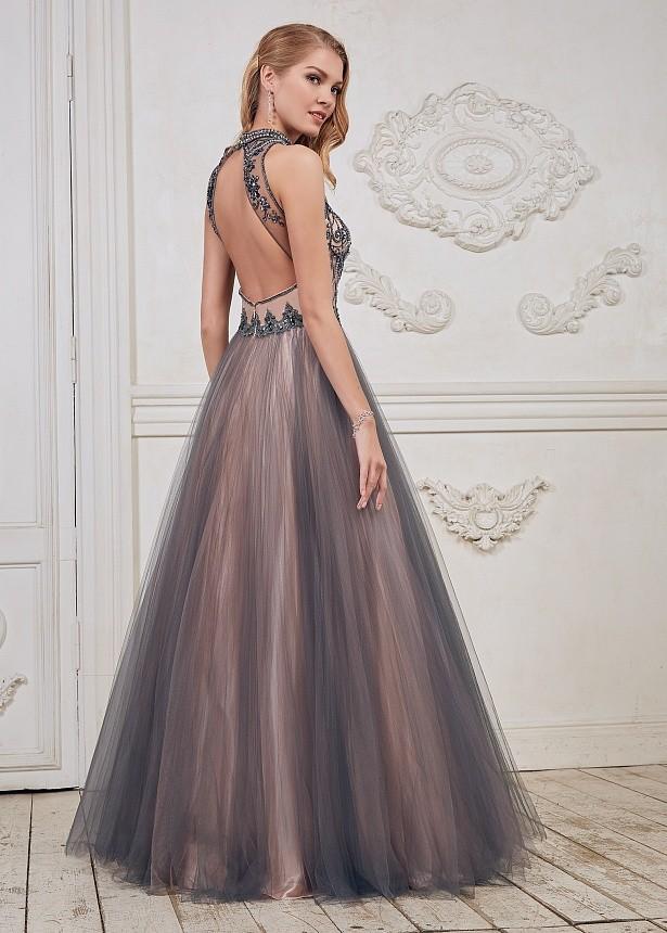 aa6cb128d60 Пышное платье в пол без рукавов со стразами CH007B - Пышное платье в пол без  рукавов