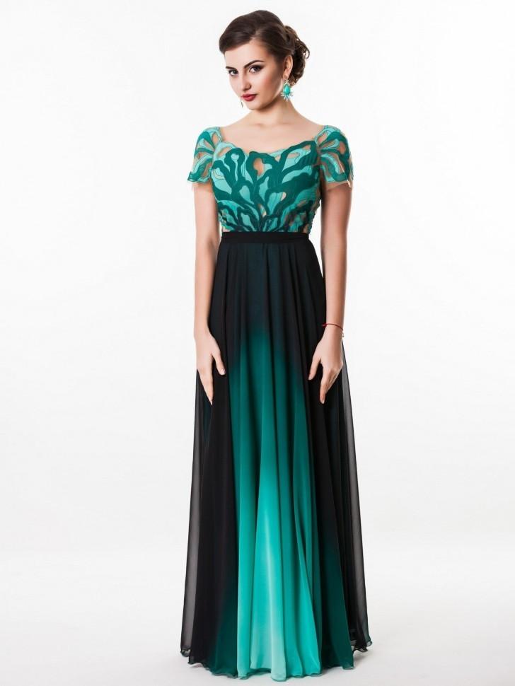 54849bd58e4 Купить длинное вечернее платье в пол seam 4690 зеленое в интернет ...