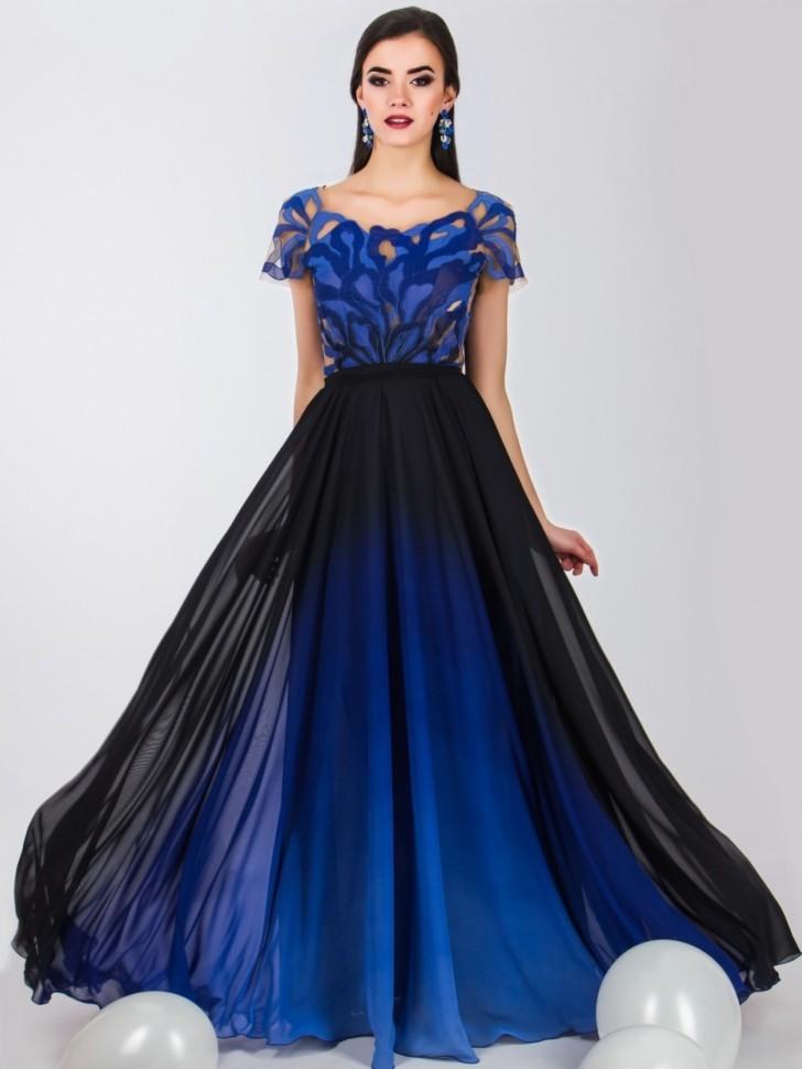 cb667a6a494 Купить длинное вечернее платье в пол 4690 синее в интернет магазине ...