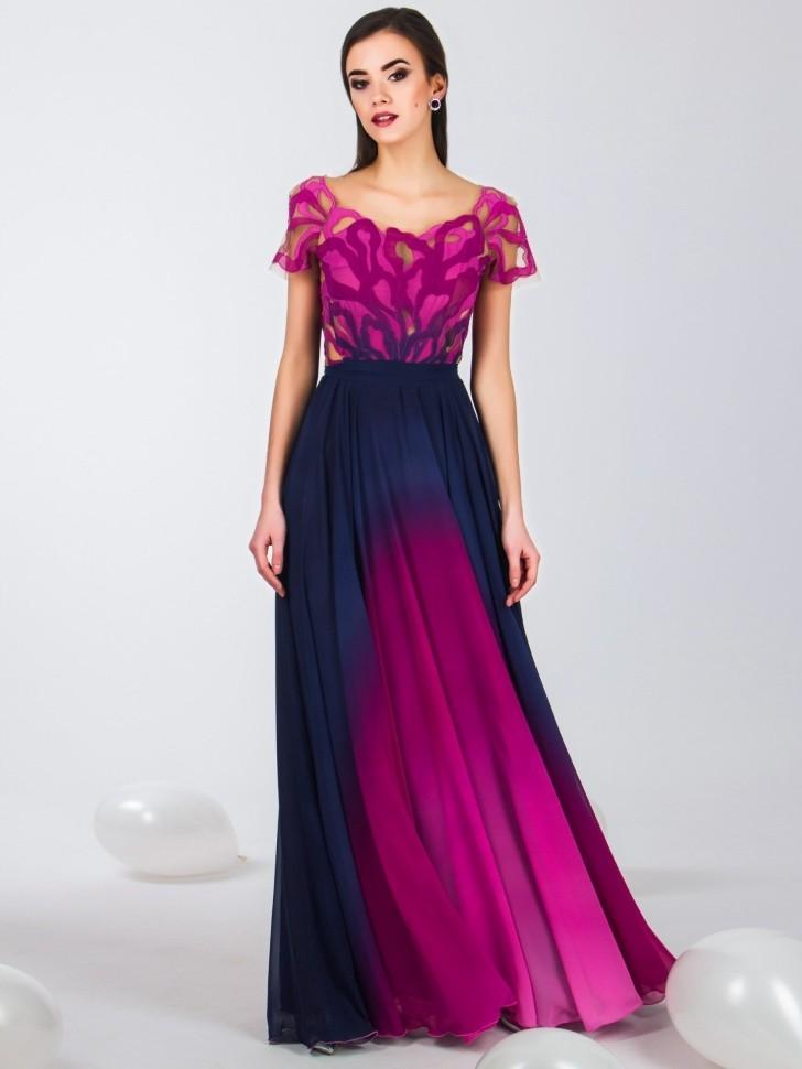 22fbf19494e Купить длинное вечернее платье в пол seam 4690 фиолетовое в интернет ...