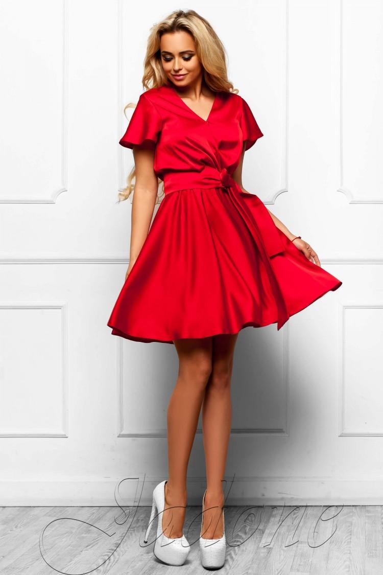 cb40e3ab62a Купить платье с юбкой солнце-клеш jdn6 красное в интернет магазине ...