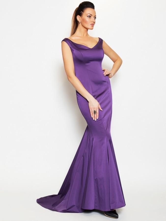 5bb475a3ccf Купить длинное вечернее платье в пол lucy lady di 080 фиолетовое в ...