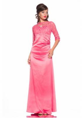 533a6c2e827 MirPlatev   Платье с кружевом с верху Leleya Диана кораловое. Размеры  2XS  XS S M L XL XXL. 1. Длинное платье без рукавов с кружевом Leleya Талия  коралловое