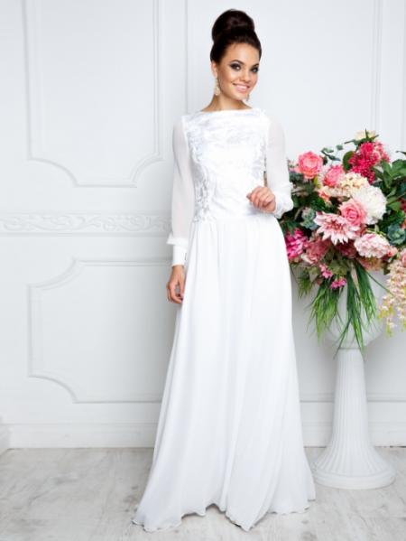 f45e06edf22 Платья в пол с длинным рукавом. найдено товаров  13. 1. Платье Leleya  Дороти (Белый)